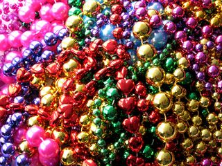 mardi gras beads from new orleans