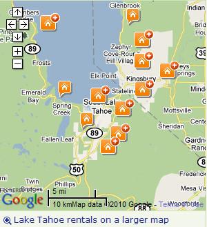 Tripadvisor tahoe rental map