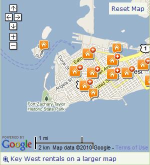Tripadvisor key west rental map
