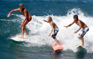 boys surfing