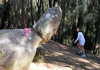 Molokai Hawaii penis or phallic rock hike