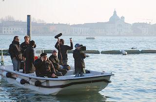 film crew in Venice