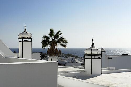 Rooftops in Puerto Del Carmen, Lanzarote Canary Islands Spain.