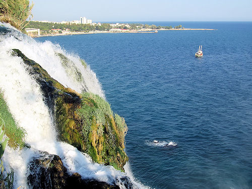 Bigstock_weekend_Waterfall_In_Antalya_The falls beginning in Antalya running into Mediterranean sea_12274253