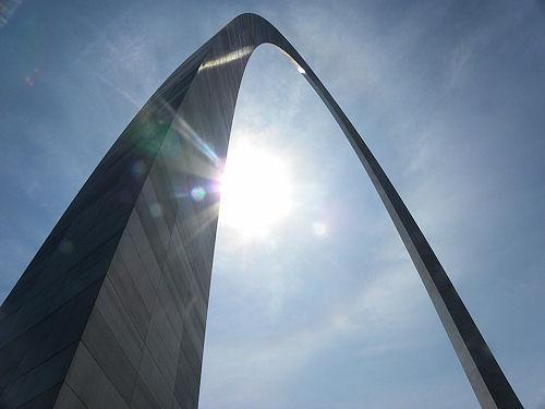 The Gateway Arch, of Saint Louis