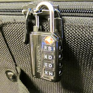 WordLock on my zipper luggage.