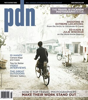 PDN Photo District News August 2012 Cover - Travel & Location Issue