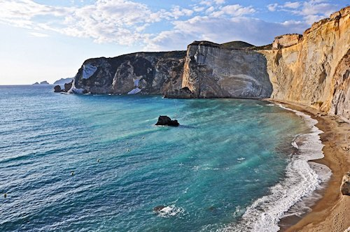 Cliffs of Ponza Italy