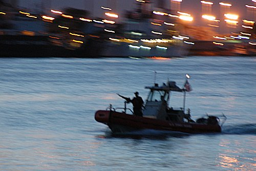 US Coast Guard patrol boat in Honolulu Hawaii